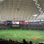 今年初の東京ドーム野球観戦!田口投手、プロ初登板・初勝利おめでとうございます!